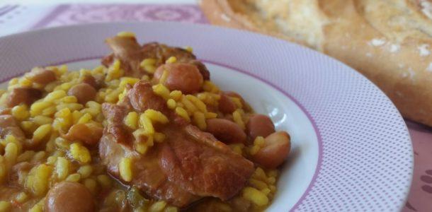 arroz con habichuelas pintas