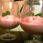 mousse de fresas