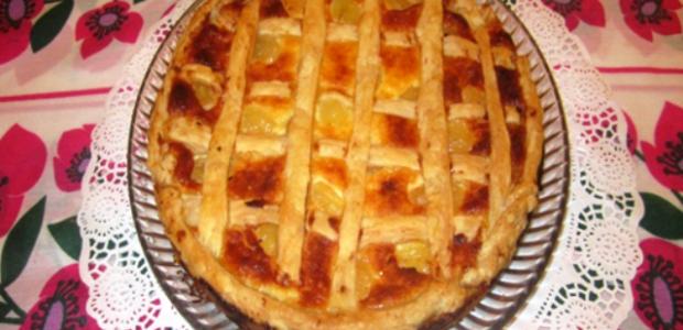 Tarta de quesos y uvas
