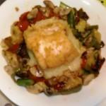 bacalao sobre verduritas frescas 2