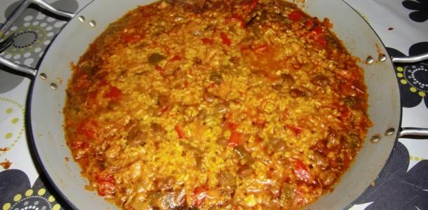 arroz meloso de habas y bacalao