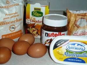 bizcocho nutella 1