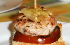 hamburguesa de atún fresco